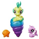 Mini Figura My Little Pony com Acessórios - Mini Pônei Sereia - Lily Drop - Hasbro