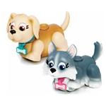 Mini Figuras - Pet Parade - Cachorrinhos Creme e Cinza - Multikids