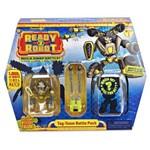 Mini Figuras Sortidas - Ready 2 Robot - Conjunto de Batalha - Amarelo - Candide