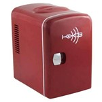 Mini Geladeira Retro Vermelha com Logo Kx3 K1066