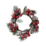 Mini Guirlanda Decoração Natal Vermelho
