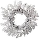 Mini Guirlanda Folhas Secas em Glitter, Prata - Christmas Traditions