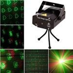 Mini Laser Projetor Strobo Canhão de Luz Holográfico Dj Balada Festa Iluminação