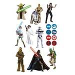 Mini Personagens Decorativo Star Wars Clássico - 17 Unidades