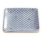 Mini Prato Quadrado em Cerâmica Azul 11cm