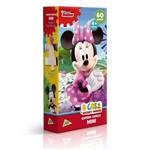 Mini Quebra Cabeça a Casa do Mickey Mouse Minnie 60 Peças - Toyster