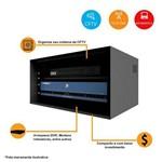 Mini Rack 5U Organizador Tampa Acrílica para Sistemas de Segurança