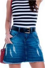 Mini Saia Jeans Evasê SA0710 - Kam Bess