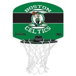 Mini Tabela de Basquete Nba Boston Celtics Spalding Team Micro Backboard Set