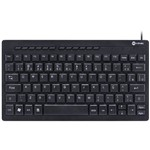 Mini Teclado Vinik DT110 Flat Chocolate ABNT2 Multimídia USB 1.8m Preto