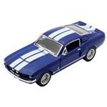 Miniatura 1967 Shelby Gt 500 Escala 1:38 Azul e Branco