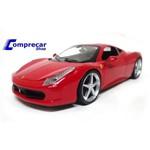 Miniatura Ferrari 458 Italia Vermelho Hot Wheels 1/24