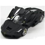 Miniatura Ferrari Laferrari Preto Fosco Hot Wheels 1/18
