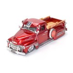 Miniatura Jada Toys 1:24 Chevy Pick Up 1951 Vermelha