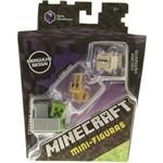 Minicraft Mini Figuras - Pack com 3 - 4 Serie Obsidianos - Creeper Furtiv - Coelho - Guardião Ancião