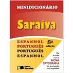 Minidicionario Saraiva Espanhol Portugues e Vv - Saraiva