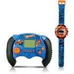 Minigame + Relógio Hot Wheels - Candide