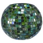 Minisaic Suporte Vela 10 Cm Verde/multicor