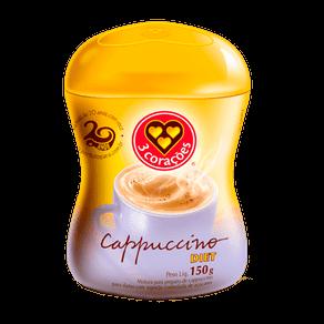 Mistura para Cappuccino 3 Corações Diet 150g