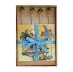 Misturadores de Drink e Guardanapos Palmeira Bon Gourmet