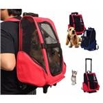Mochila Bolsa Rodas Transporte Passeio Caes Gato Pet Dog Bag - GT399