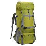 Mochila Cargueira Camping Viagem Ntk Kompaz Gt 70 Litros com Capa de Chuva Verde