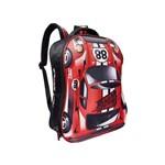 Mochila de Costas Carro Fast Machine 3d Clio Style Vermelha