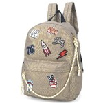Mochila de Costas Up4you Patches Ouro Ms45603up-cz