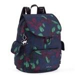 Mochila de Passeio City Pack S Azul Orchid Garden Kipling