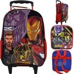 Mochila de Rodinhas Marvel Avengers + Lancheira