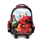 Mochila de Rodinhas Santino Angry Birds Preta/Vermelha