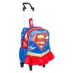 Mochila de Rodinhas Super Hero Girls Super Girl 17y Original