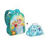 Mochila e Lancheira Frozen Elsa e Anna Original Disney