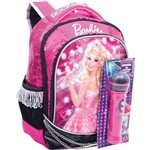 Mochila Escolar Barbie Rock N Royals Md 3bolso Sestini