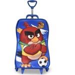 Mochila Escolar 3D com Rodinhas Angry Birds Futebol - Maxtoy