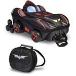 Mochila Escolar 3D com Rodinhas e Lancheira MaxToy Batman Chrome Weels