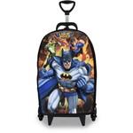 Mochila Escolar 3D com Rodinhas Liga da Justiça: Batman - Maxtoy