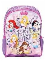 Mochila Escolar Disney Princesas Infantil para Menina - Lilás