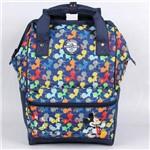 Mochila Escolar G Dermiwil Mickey Colors com Alça Azul Marinho - 51934