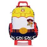 Mochila Escolar Infantil G de Rodinhas Jessie Toy Story Disney - Dermiwil