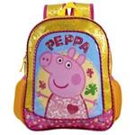 Mochila Escolar Infantil G Porca Peppa Pig Home Sweet Home Amarela / Rosa - Xeryus