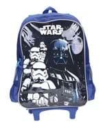 Mochila Escolar Star Wars Infantil para Menino - Azul