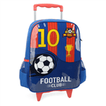 Mochila Football Club com Rodas Az/Verm