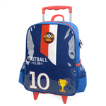 Mochila Football Club com Rodas Azul