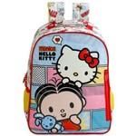 Mochila Infantil Hello Kitty e Mônica de Costas Média - Ref: 7913 - Xeryus