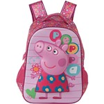 Mochila Infantil Média Peppa Pig Colorfull Rosa - Xeryus