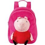 Mochila Infantil Média Peppa Pig Plush Rosa - Xeryus