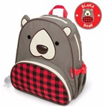 Mochila Infantil Skip Hop Urso Zoo Cinza/xadrez 3+ - B-16-030