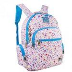 Mochila Juvenil Stars Branco/azul Rebecca Bonbon - Rb8198 - Clio Style
