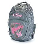 Mochila Luxcel Princess Love Grafite Pink - Mj48192ps